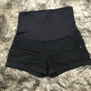 Black shorties - size small maternity